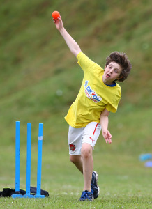 Cricket action from the Devon Youth Games in Torbay