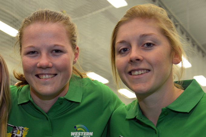 England's new vice-captain and captain - Anya Shrubsole (left) and Heather Knight